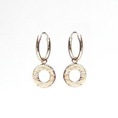 KARMA Jewelry KARMA CREOLEN | HOOPS WOOD  PRINT | ROSE | M2031