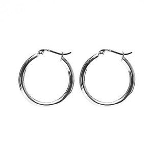 KARMA Jewelry KARMA CREOLEN | PLAIN HOOPS 30MM | ZILVER
