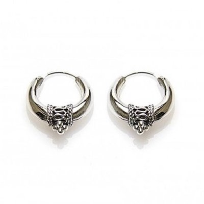 KARMA Jewelry KARMA CREOLEN | BALI HOOPS 20MM | ZILVER | BCG017-20MM