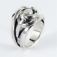 GATZ Ring | TYPHOON | Zilver | Parel