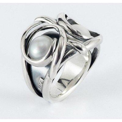 GATZ Ring   OWL   Zilver   Parel   1406