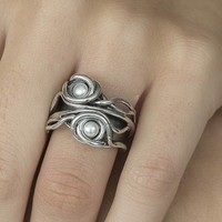 GATZ GATZ Ring | TRUNK | Zilver | Parel