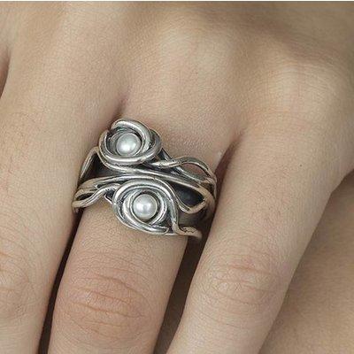 GATZ Ring | TRUNK | Zilver | Parel | 2305