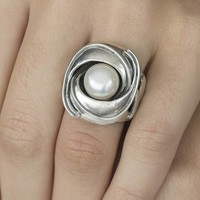 GATZ GATZ Ring | ORCHIDEE | Zilver | Parel