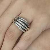 GATZ GATZ Ring | WICKER | Zilver | 1106