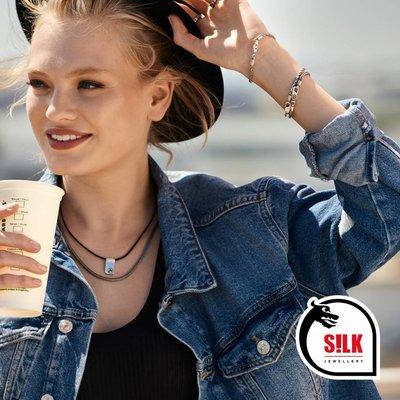 SILK Jewellery SILK Armband | 150 Armband Chevron | Zilver | FW18 | 18 cm