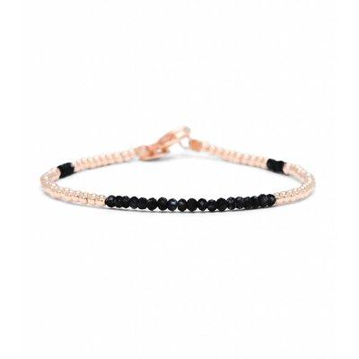 MIAB Jewels MIAB Armband   Rosé Goud   Black   14k Gold Filled