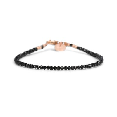 MIAB Jewels MIAB Armband | Rosé Goud | All Black | 14 K Gold Filled