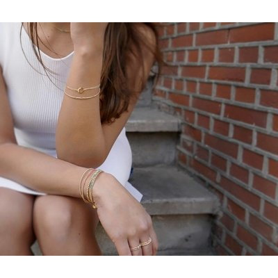 MIAB Jewels MIAB Armband | Rosé Goud | Round Edge | 14k Gold Filled
