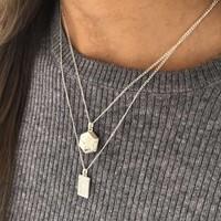 MIAB Jewels MIAB Ketting | Zilver | Medaillon