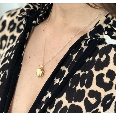MIAB Jewels MIAB Ketting | Goud | Medaillon