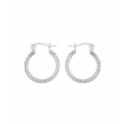 MIAB Jewels MIAB Oorbellen | Sterling Zilver | Turned Ring