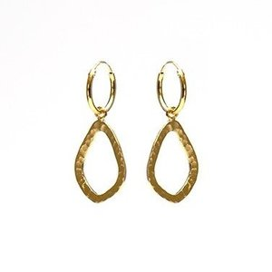 KARMA Jewelry KARMA CREOLEN | OPEN OVAL HAMMERED | GOLD