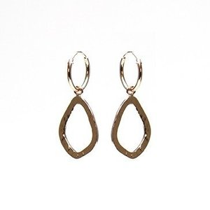 KARMA Jewelry KARMA CREOLEN   OPEN OVAL HAMMERED   ROSE GOLD