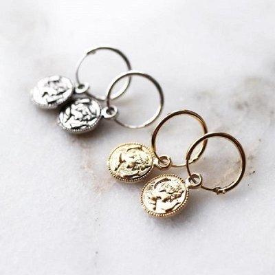 KARMA Jewelry KARMA CREOLEN   HOOPS COIN   ROSE GOLD   M1968