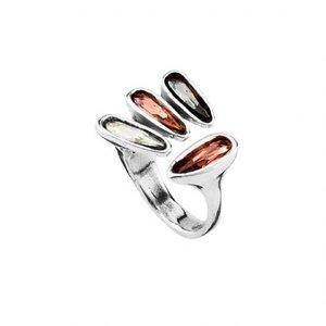 UNOde50 UNOde50 Ring | FOUNDYOU | Zilver | Kristal | Wit, Rose & Grijs | FW18