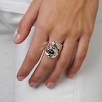 UNOde50 UNOde50 Ring   LOOK AT ME   Zilver   Kristal   Grijs   FW18