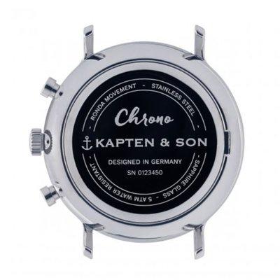 KAPTEN & SON KAPTEN & SON Horloge | CHRONO | ZILVER | MESH