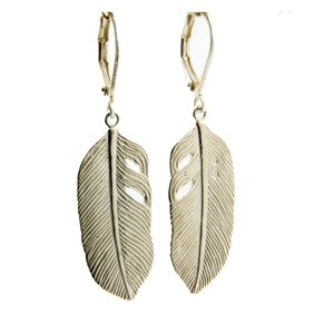 LILLY LILLY Oorbellen | Big Feather Silver| 925 Zilver