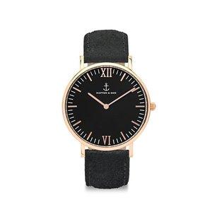 KAPTEN & SON KAPTEN & SON Horloge | CAMPINA | ALL BLACK VINTAGE | ROSE GOLD