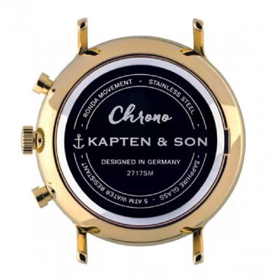 KAPTEN & SON KAPTEN & SON Horloge | CHRONO | GOLD | 40 MM
