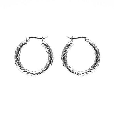 KARMA Jewelry KARMA CREOLEN | HOOPS TWISTER |  20MM | ZILVER | M2174M