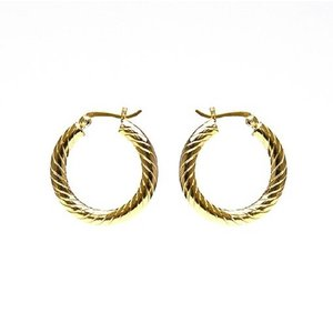 KARMA Jewelry KARMA CREOLEN | HOOPS TWISTER |  20MM | GOLD