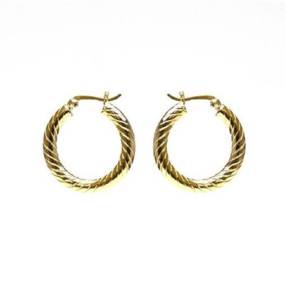 KARMA Jewelry KARMA CREOLEN | HOOPS TWISTER |  20MM | GOLD | M2176M