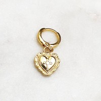 BY NOUCK BY NOUCK Earrings | CROSS HEART | GOLD