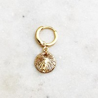 BY NOUCK BY NOUCK Earrings | BIG VINTAGE COIN | GOLD