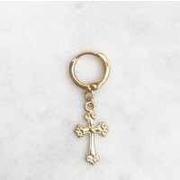 BY NOUCK BY NOUCK Earrings | MEDIUM CROSS | GOLD