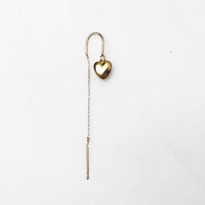 BY NOUCK BY NOUCK Earring | LONG HEART CHAIN | GOLD