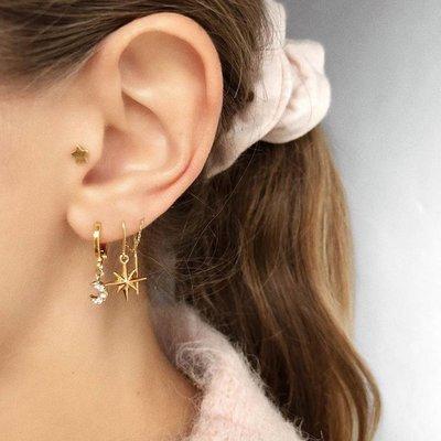 BY NOUCK BY NOUCK Earring | LONG NORTHSTAR  CHAIN | GOLD