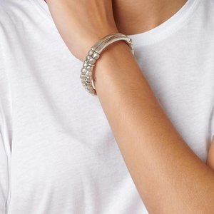 UNOde50 UNOde50 Armband | TANDEM | Zilver | Dubbel | Elastisch