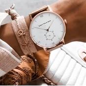 KAPTEN & SON KAPTEN & SON Horloge | HERITAGE | MESH | ROSEGOLD