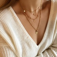 BY NOUCK BY NOUCK Necklace | Twisted | Vintage Coin | Gold