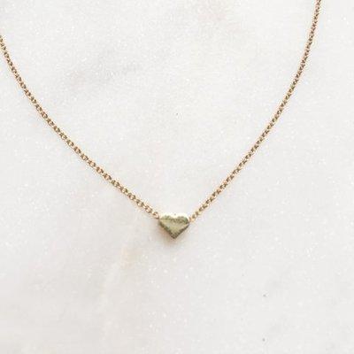 BY NOUCK BY NOUCK Choker | Simple Mini Heart | Gold