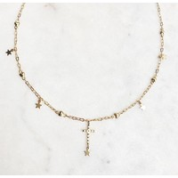 BY NOUCK BY NOUCK Choker | Heartchain Cross | Gold