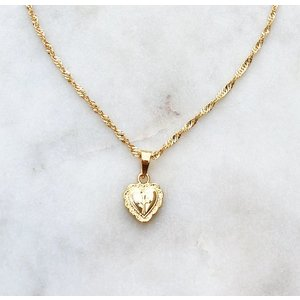 BY NOUCK BY NOUCK Necklace | Twisted | Heart | Gold