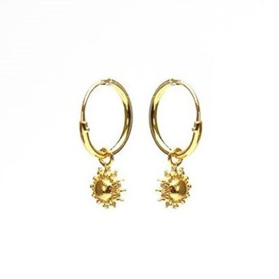 KARMA Jewelry KARMA CREOLEN | HOOPS SUN | GOLD | M2014