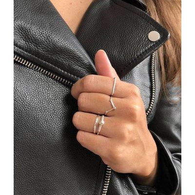 MIAB Jewels MIAB Ring | Zilver | Facet Cut