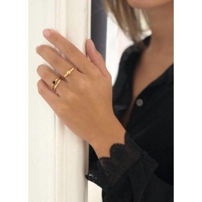 MIAB Jewels MIAB Ring | Goud | Black Stone