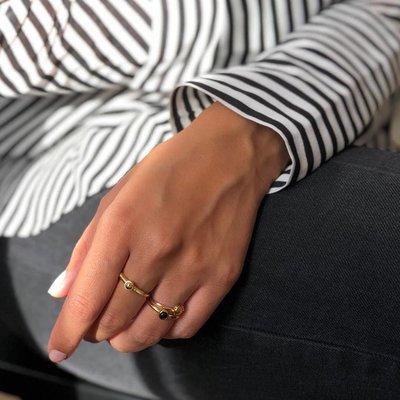 MIAB Jewels MIAB Ring | Zilver | Black Stone