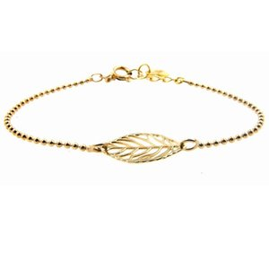 LILLY LILLY Armband | Goldies | Leaf | 14 Karaats