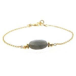 LILLY LILLY Armband | Precious Oval Gold | Labradoriet | 14 Karaats
