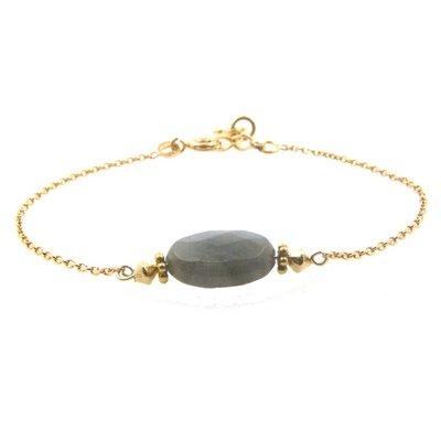 LILLY LILLY Armband   Precious Oval Gold   Labradoriet   14 Karaats