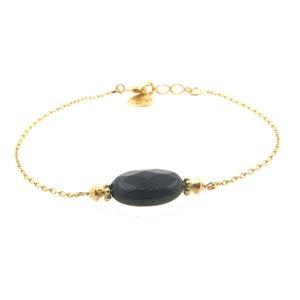 LILLY LILLY Armband | Precious Oval Gold | Onyx | 14 Karaats