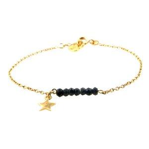 LILLY LILLY Armband | Precious star | Onyx | 14 Karaats