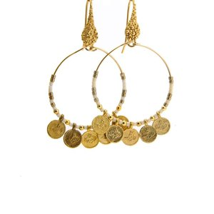 LILLY LILLY Oorbellen | Coincharm M gold | White | 18 Karaats | SS19