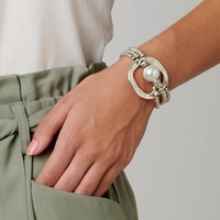 UNOde50 UNOde50 Armband | A PEARL OF WISDOM | Parel Armband Zilver